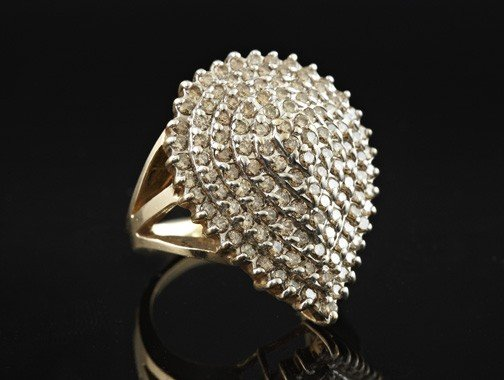 769: Yellow Gold and Diamond Cocktail Ring