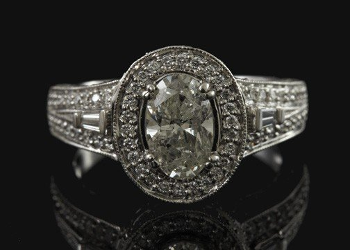 774: White Gold and Diamond Unity Ring