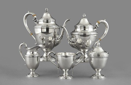 1225: Frank M. Whiting Sterling Coffee Set