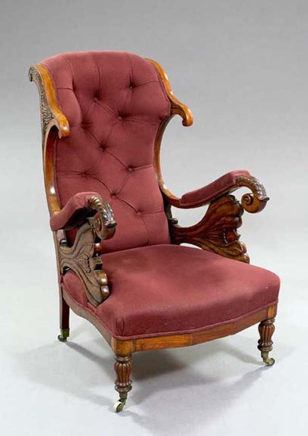6: WILLIAM IV LIBRARY CHAIR