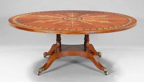 8: INLAID REGENCY TABLE