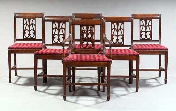 9: SIX REGENCY DINING CHAIRS