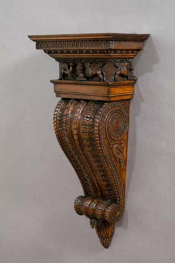13: CARVED BRACKET SHELVES