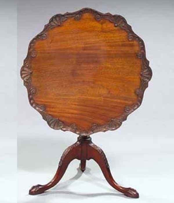 17: CHIPPENDALE TILT TOP TABLE