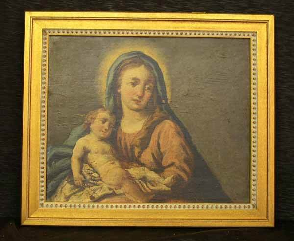 717: MADONNA AND CHILD PAINTING