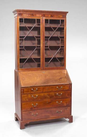 3: English Mahogany Secretary-Bookcase