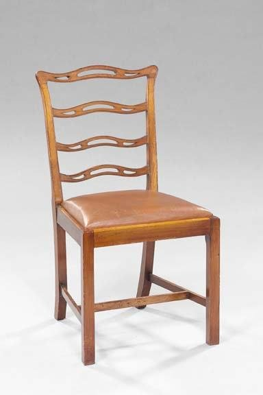 13: Pair of English Mahogany Sidechairs