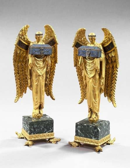 240: Pair of French Figures of Standing Angels