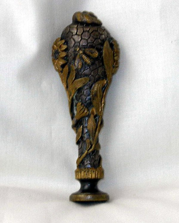584: French Gilt- and Argenté-Bronze Hand Seal