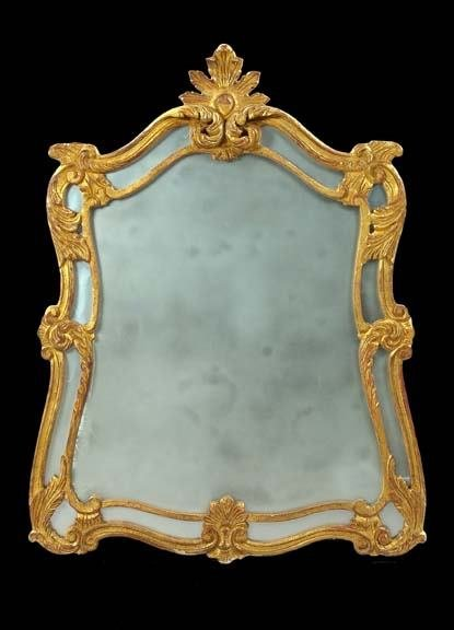 589: French Carved Giltwood Mirror
