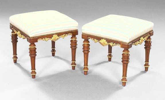 594: Pair of French Mahogany Stools