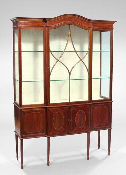 1116: Edwardian Mahogany Breakfront Bookcase