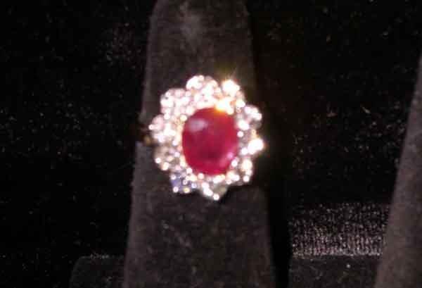1234: Fourteen-Karat Yellow Gold, Ruby and Diamond Lady