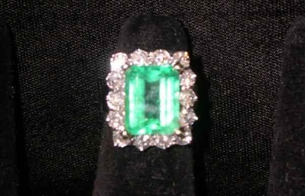 1240: Fourteen-Karat Yellow Gold, Emerald and Diamond L