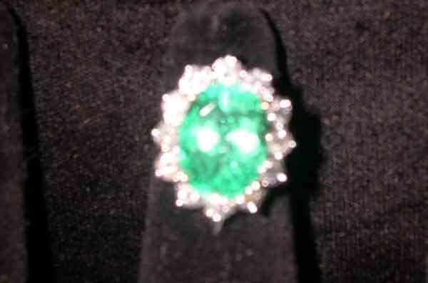 1241: Fourteen-Karat Yellow Gold, Emerald and Diamond L