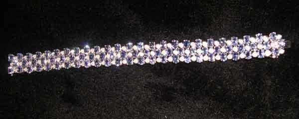 1243: Eighteen-Karat White Gold, Tanzanite Diamond Flex