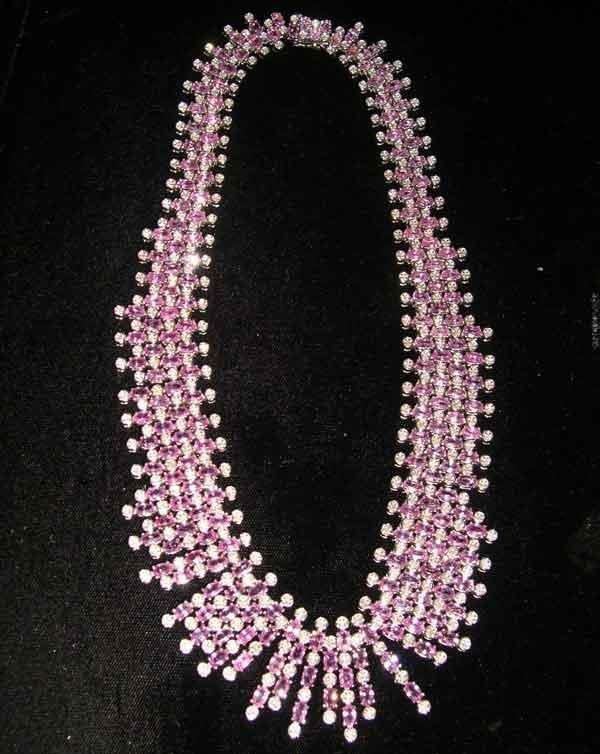 1245: Fourteen-Karat White Gold, Sapphire and Diamond B