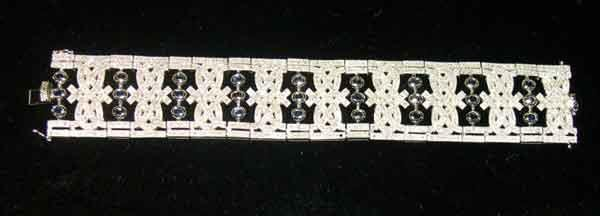1257: Fourteen-Karat White Gold, Diamond and Sapphire B