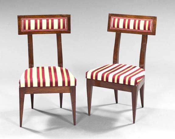 1785: Pair of Baltic Biedermeier Mahogany Sidechairs