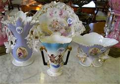 1864 Group of Four Pieces of Porcelain
