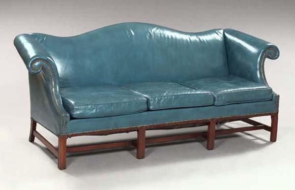 4: Mahogany Upholstered Sofa