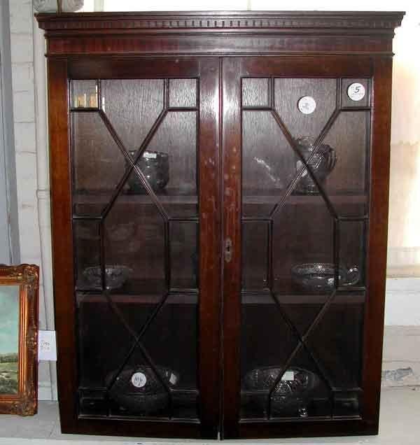 5: English Mahogany Two-Door Hanging Cupboard