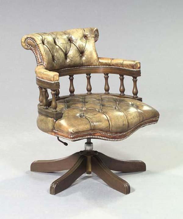 9: Regency-Style and Mahogany Swivel Armchair