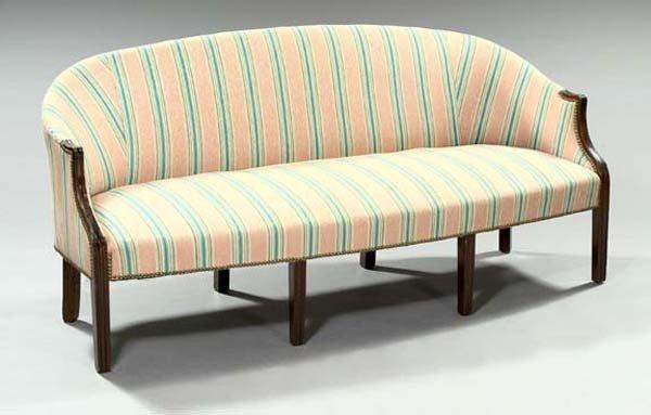 11: George III-Style Mahogany Sofa