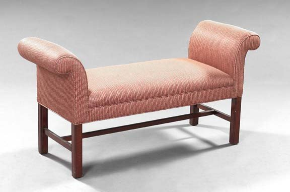 12: Mahogany and Upholstered Window Bench