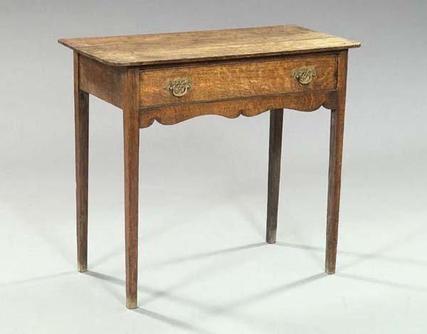 16: George III Oak Writing Table