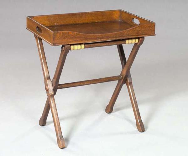17: Edwardian Oak Butler's Tray