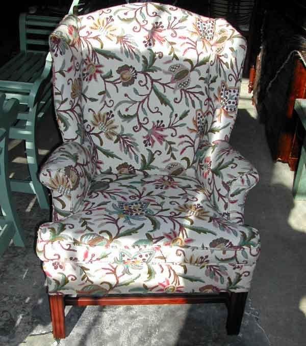 18: George III-Style Mahogany Wing Armchair