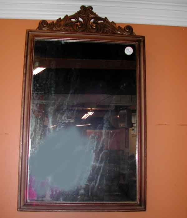 19: Continental Carved Giltwood Mirror