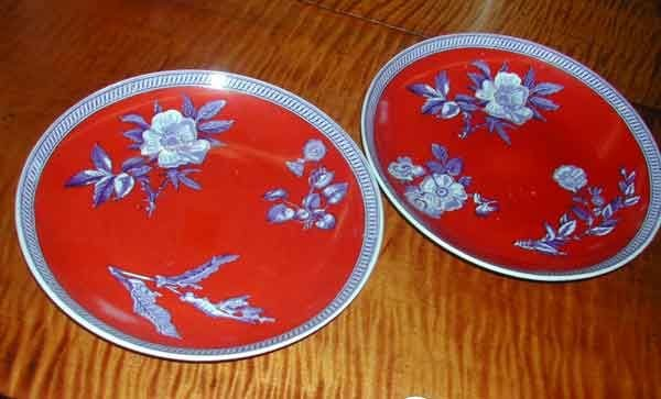 20: Pair of Wedgwood Chinoiserie Dinner Plates