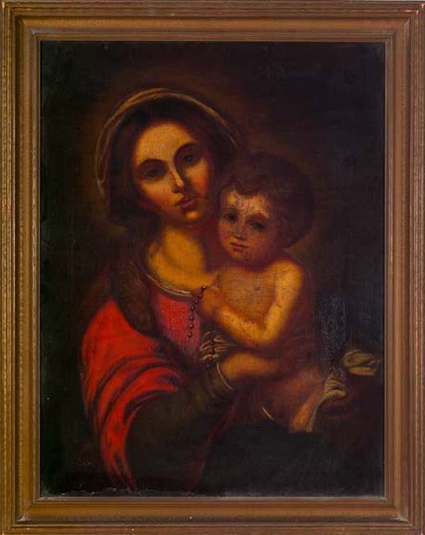 "801: ""Virgin and Christ Child Holding a Strand of Beads"