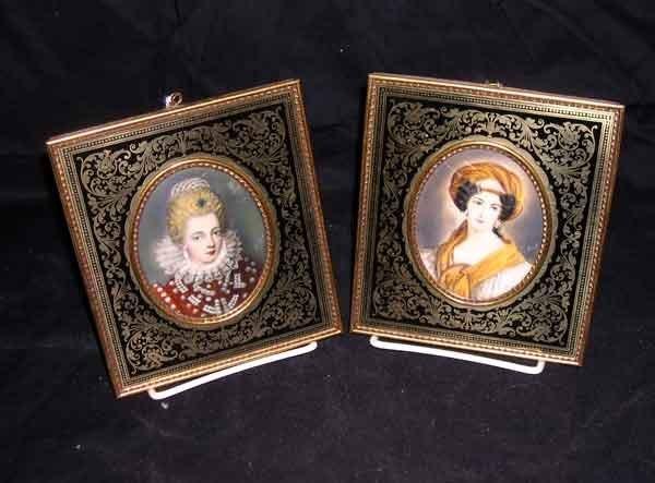 7: Two Oval Portrait Miniatures