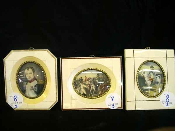 8: Group of Three Portrait Miniatures