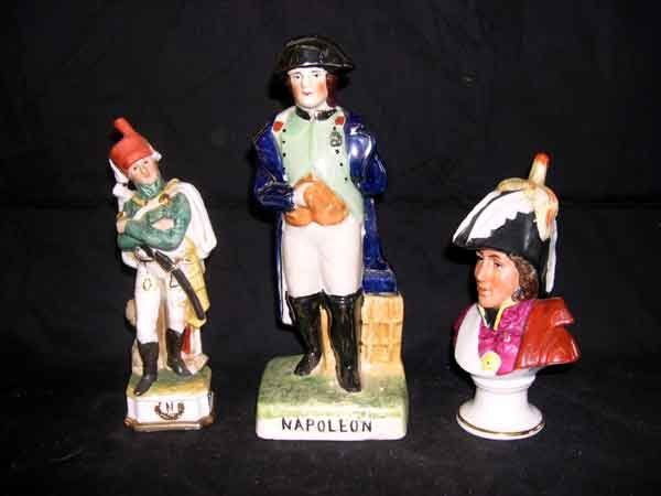 10: Group of Three Pottery or Porcelain Figures
