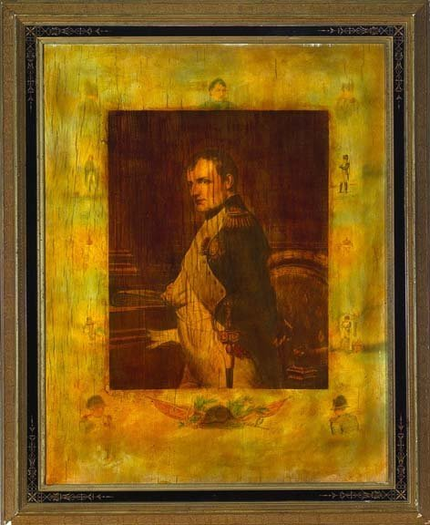 11: American Ebonized Giltwood and Plaster Frame