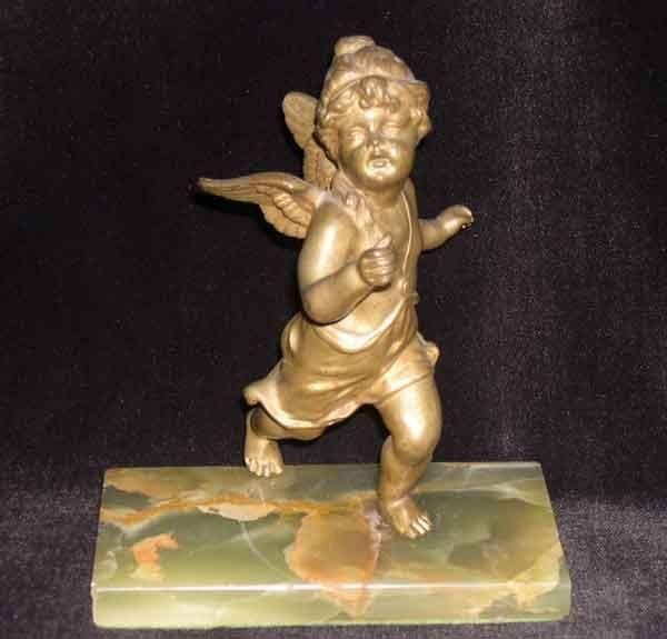 22: Continental Antique-Gilded Bronze Figure
