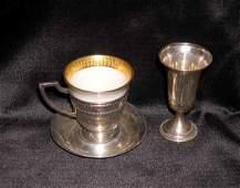 50 Sterling Lenox Porcelain Coffee Service