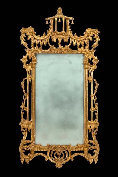 88: English Carved Giltwood Mirror