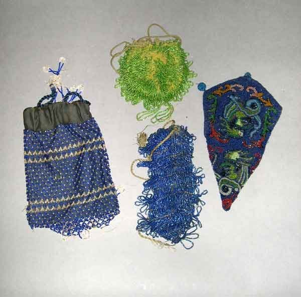 672: Collection of Four Beaded Purses