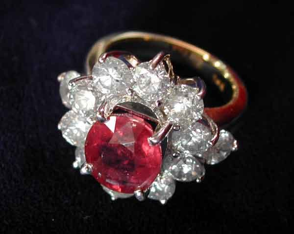 704: Gold, Ruby and Diamond Dinner Ring