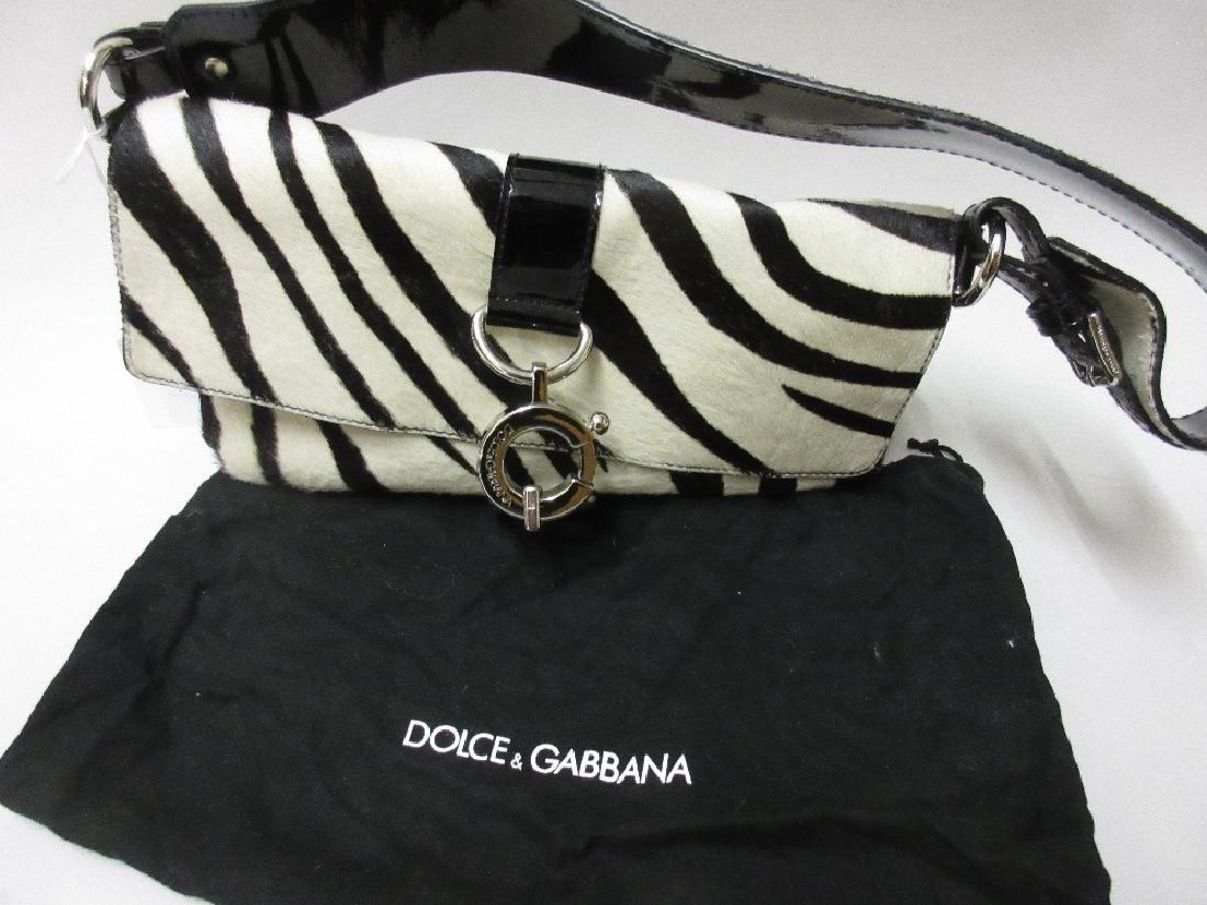 Ladies Dolce and Gabbana pony skin handbag