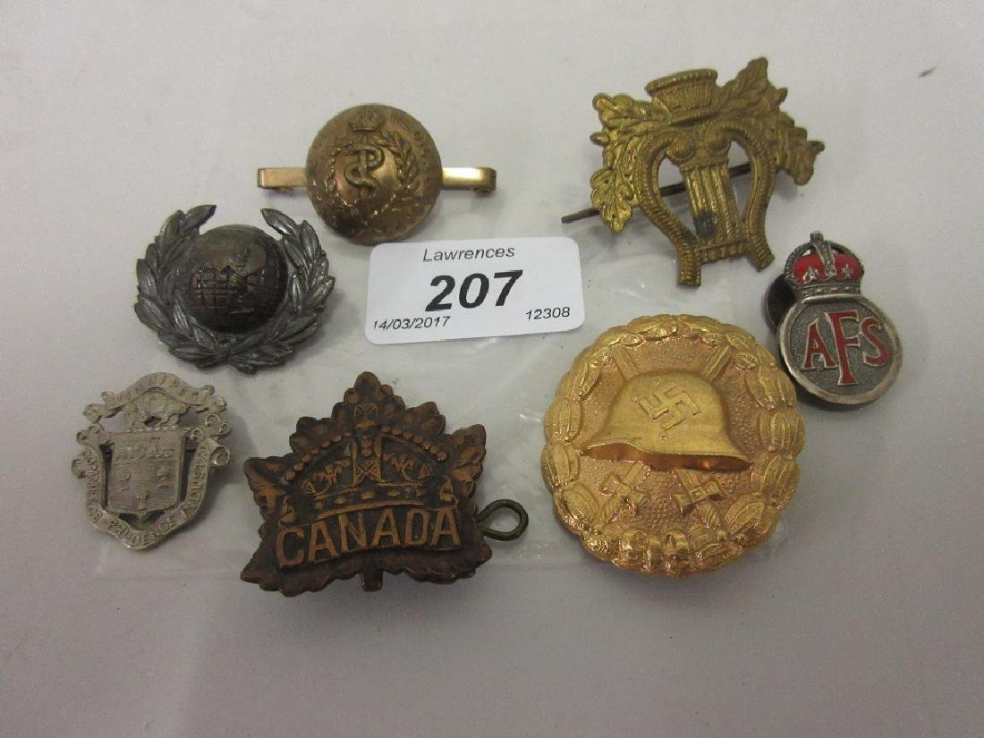 German military medal with swastika and helmet together