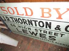 Large early 20th Century painted wooden sign for JR