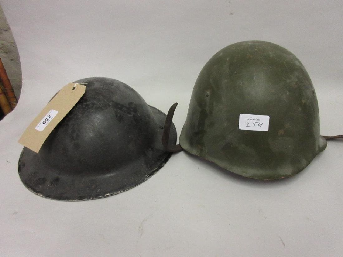World War I British helmet together with a Polish