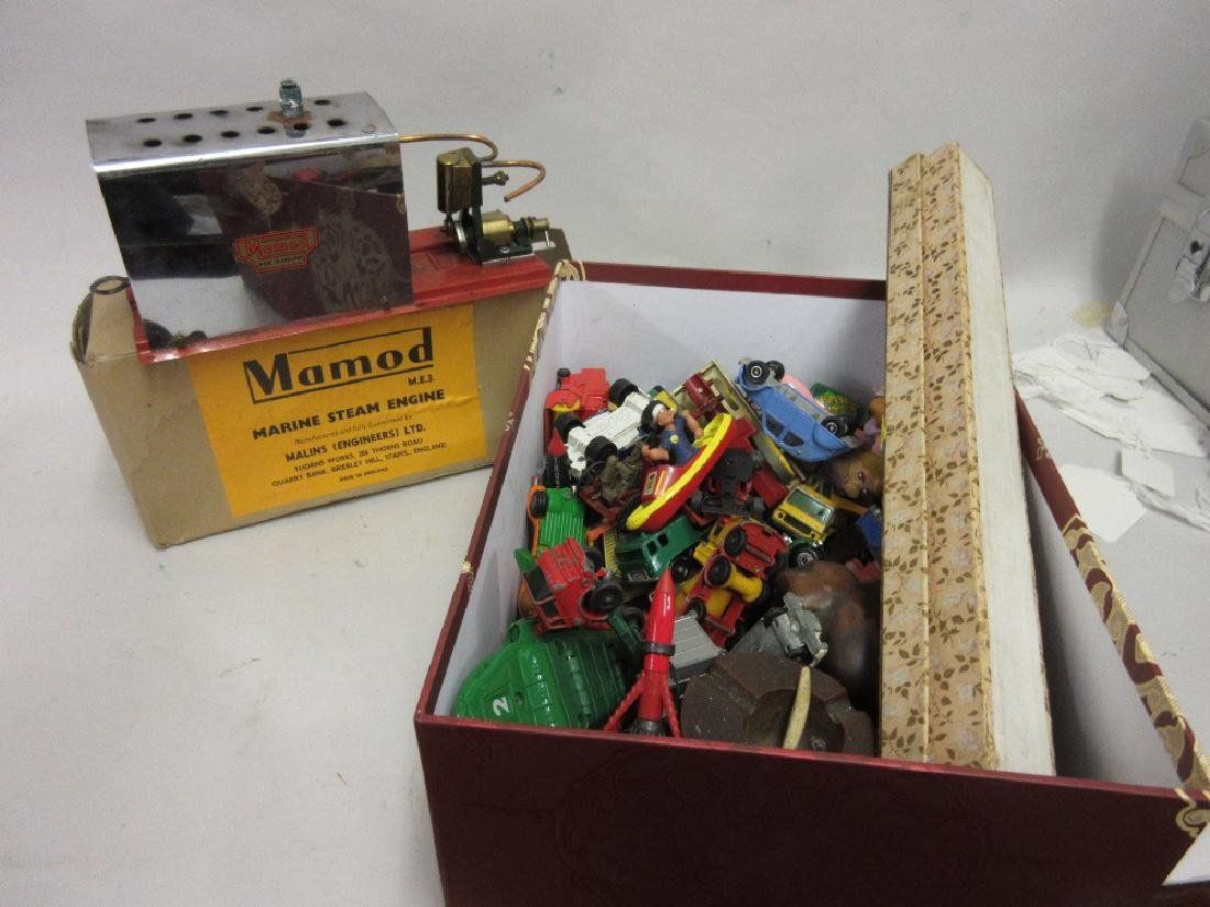Boxed Mamod Marine steam engine together with a