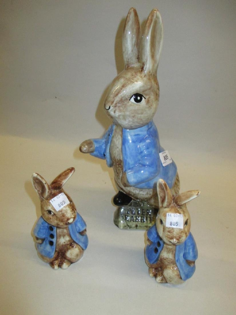 Group of three Beatrix Potter Peter Rabbit pottery